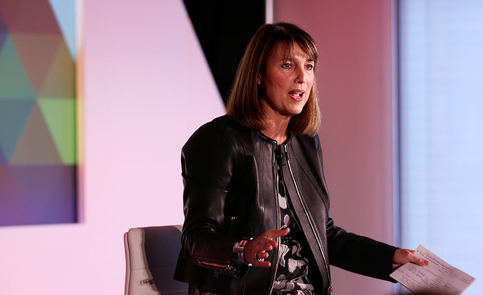 McCall speaking at the Omniwomen UK Leadership Summit