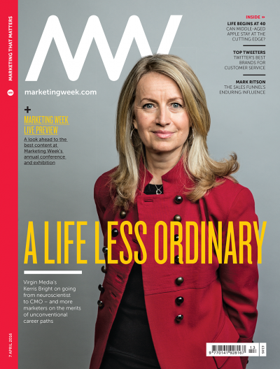 Marketing Week cover 07 04 16