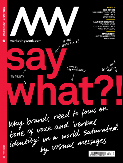 Marketing Week cover 10 03 16