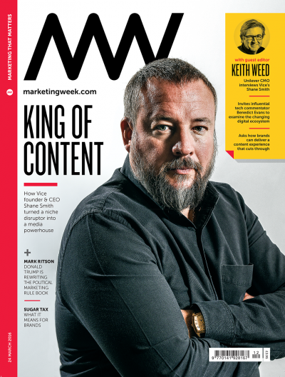 Marketing Week cover 24 03 16