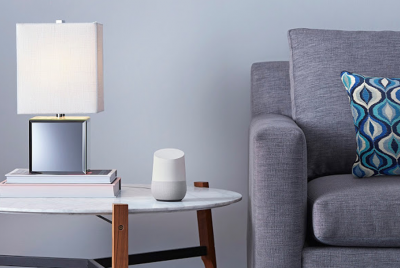 Google Home is a voice-activated device that can answer specific questions or offer tailored local information