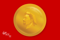 virgin red coin
