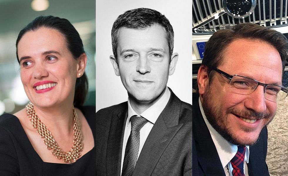 From left: Rebecca White, Heathrow; Will Abbott, Hiscox; Anders Ohlen, Volvo