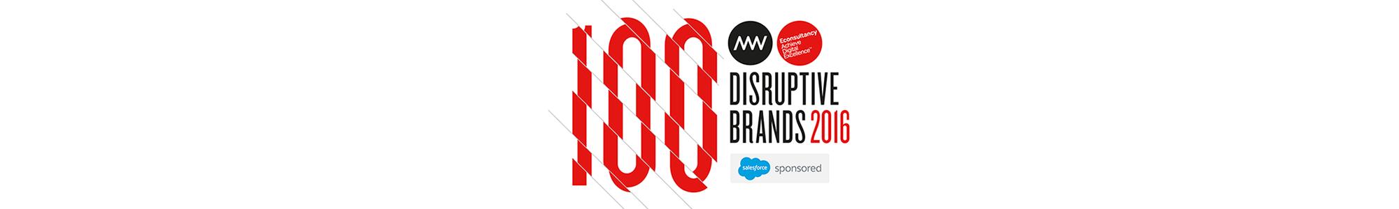 100 Disruptive Brands masthead