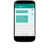 Refugee text chatbot