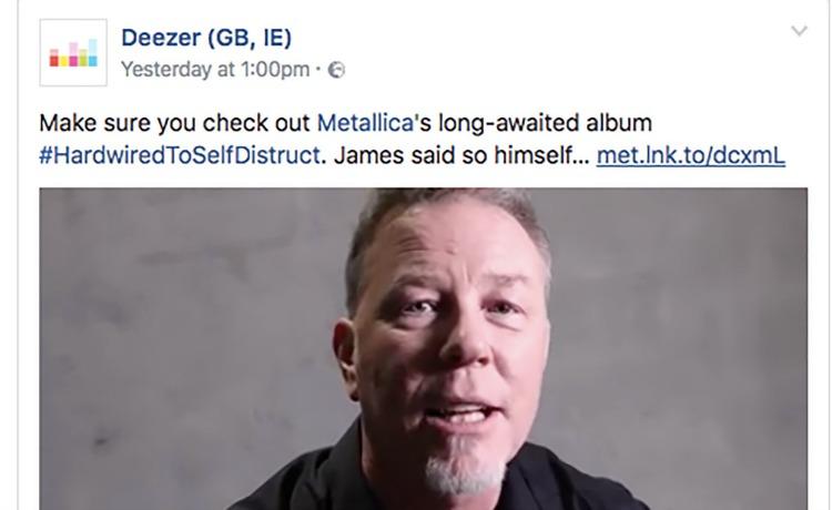 Metallica Deezer