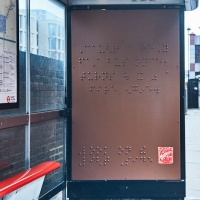 maltesers braille bus stop