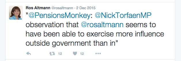 Ros Altmann Twitter