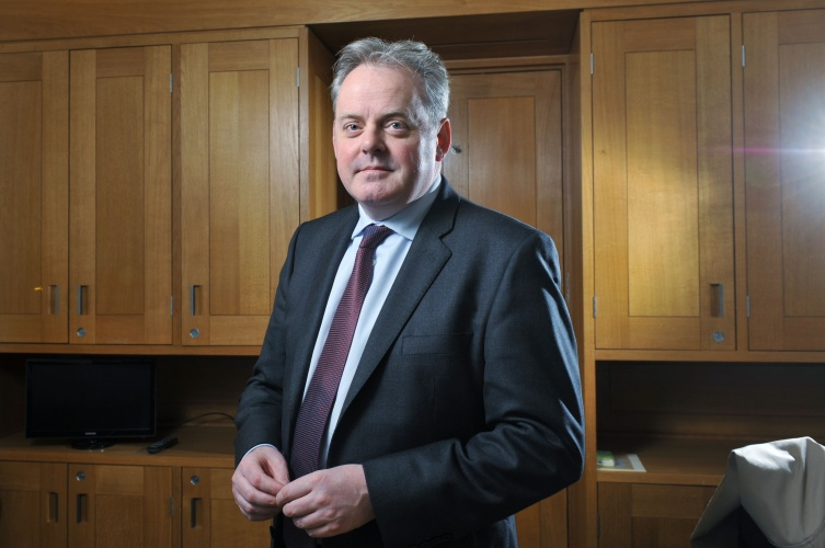 Guto Bebb, Welsh Conservative Party politician and the Member of Parliament for Aberconwy photographed in his office in Portcullis House, Westminster, London. Photo by Michael Walter/Troika