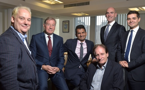 Panelists at the Money Marketing Behavioural Finance Roundtable in central London. L-R Ian McKenna, John Cowan, Minesh Patel, Bruce Moss, John Baker and John Rowland. Photo by Michael Walter/Troika