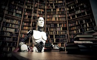 File image of robot in a library
