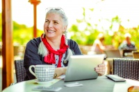File image of relaxing pensioner