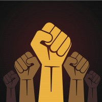 fist held in protest illustration