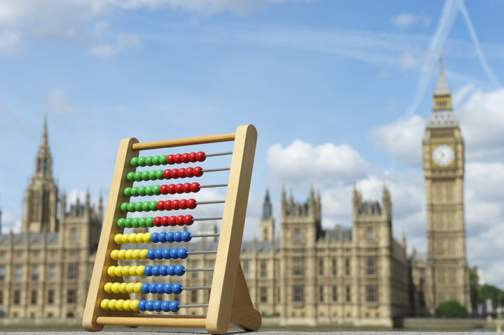 Spring Statement Houses of Parliament with Abacus