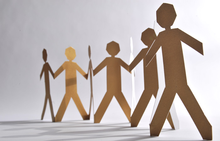 Paper People Cardboard Cutout networks