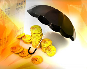 Money and umbrella - thumbnail