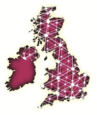 Network UK map
