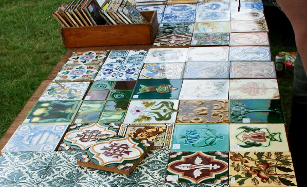Assorted reclaimed tiles