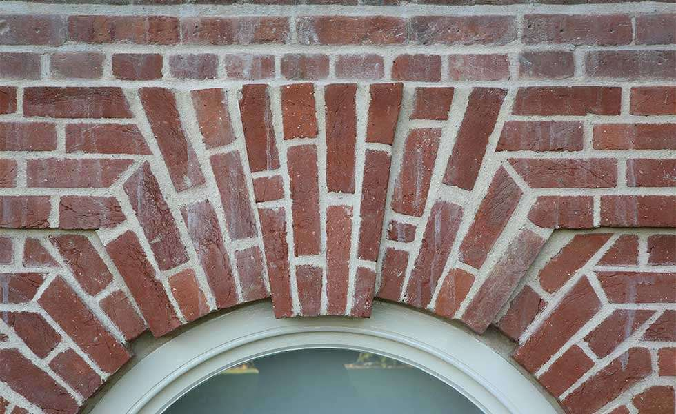 brickwork repointed with lime mortar