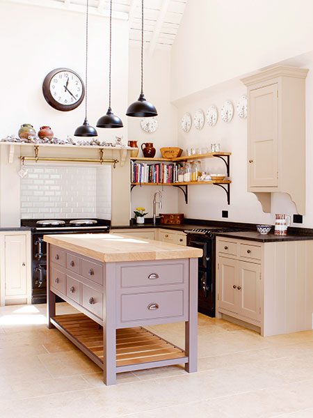 Bespoke kitchen with contrasting painted island by Christopher Peters