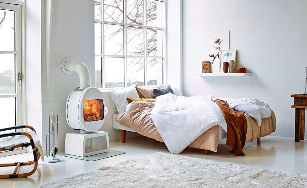 scandinavian style wood burner stove