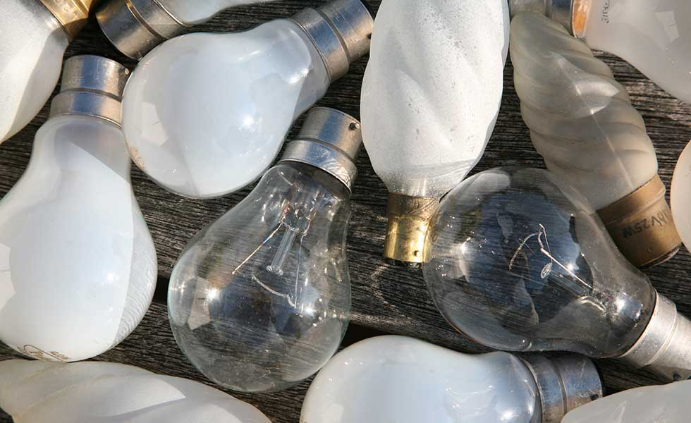 Old-fashioned light bulbs