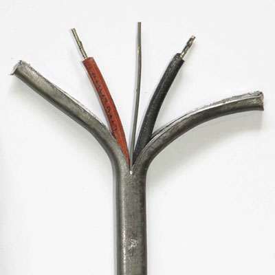 Old lead covered electrical cabling