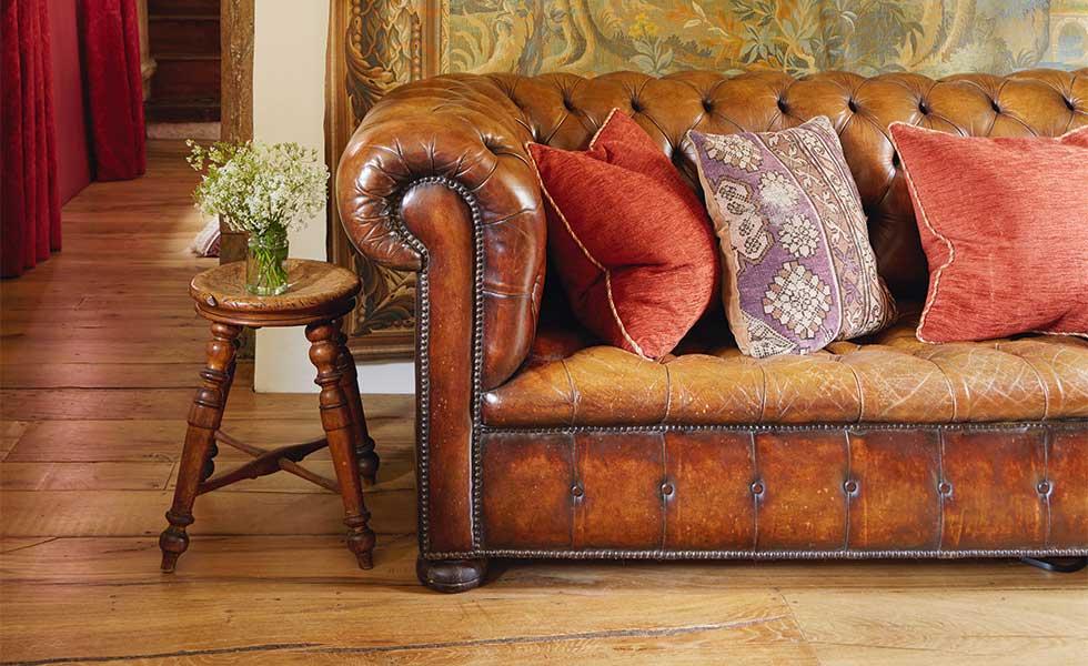 wooden floorboards in sitting room