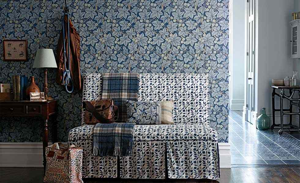 wallpaper Bramble William Morris