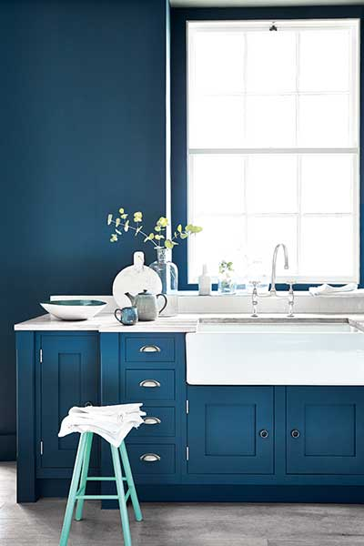 wallpaper little greene hicks blue
