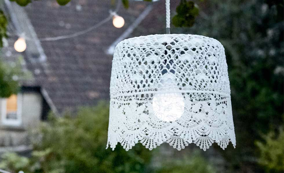 outdoor lighting lacy lampshade cox & cox