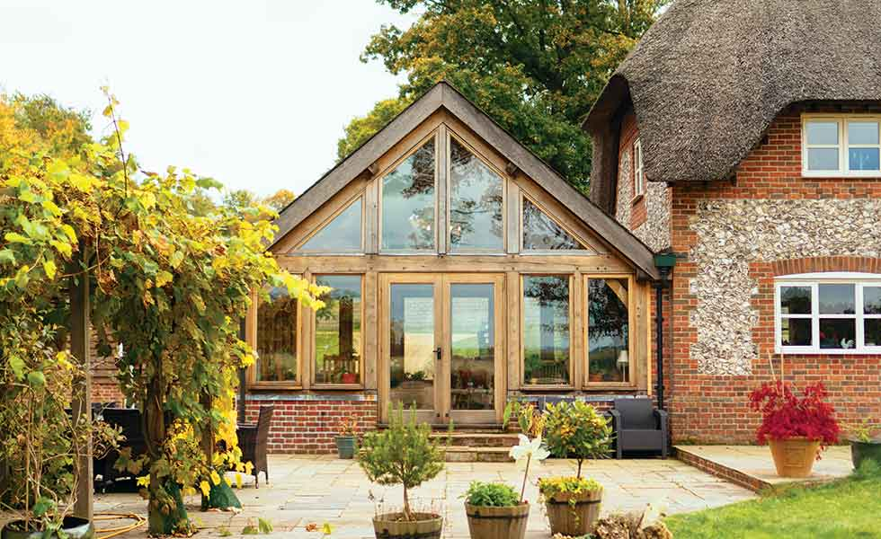 How To Add An Oak Frame Extension Period Living