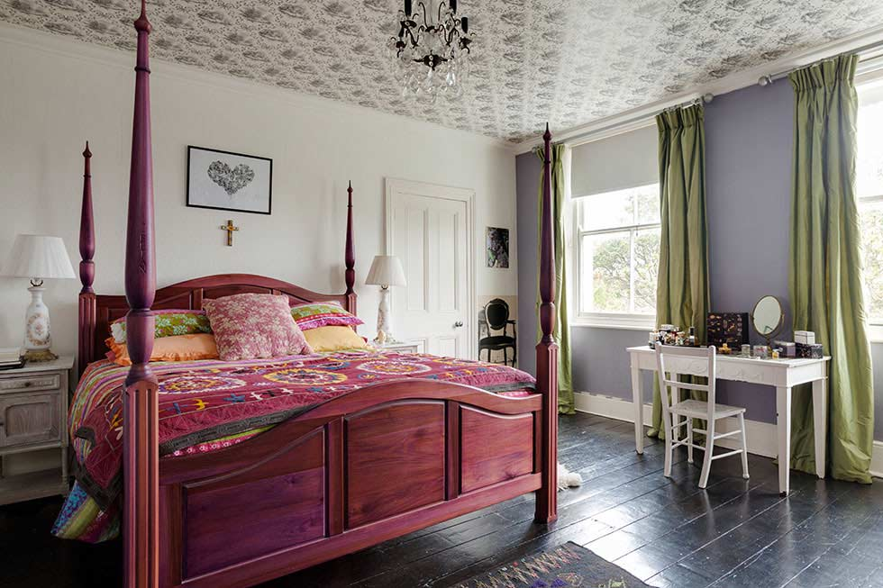 colourful master bedroom in a victorian villa