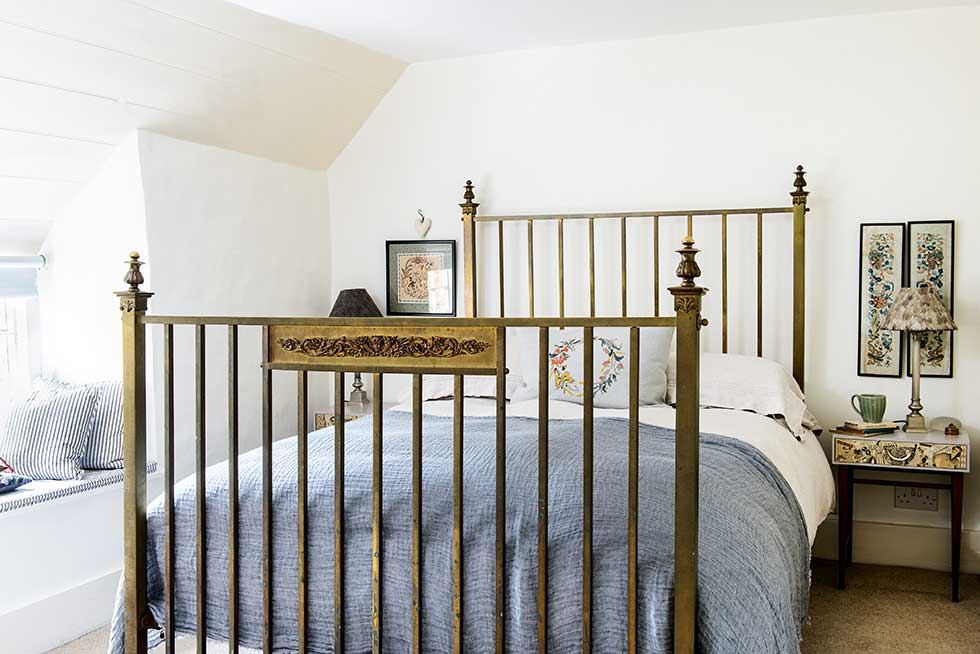 master bedroom in a cowmans cottage