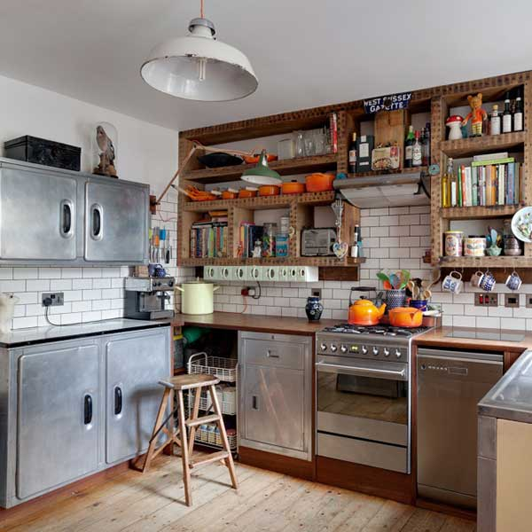freestanding kitchen furniture in an eclectic Brighton Victorian terrace