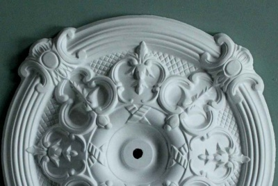 plaster ceiling roses white filigree design