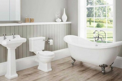 victorian plumbing bathroom suite roll top bath toilet basin