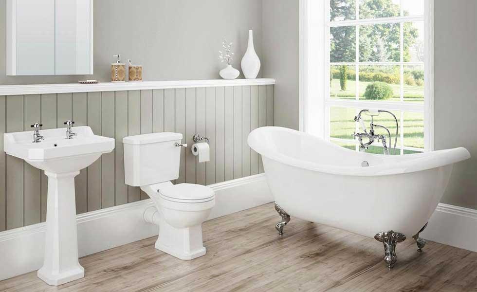 victorian plumbing bathroom suite roll top bath toilet basin