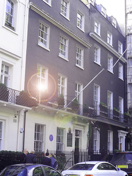 50 Berkeley Square in Mayfair, London, is now a booksellers