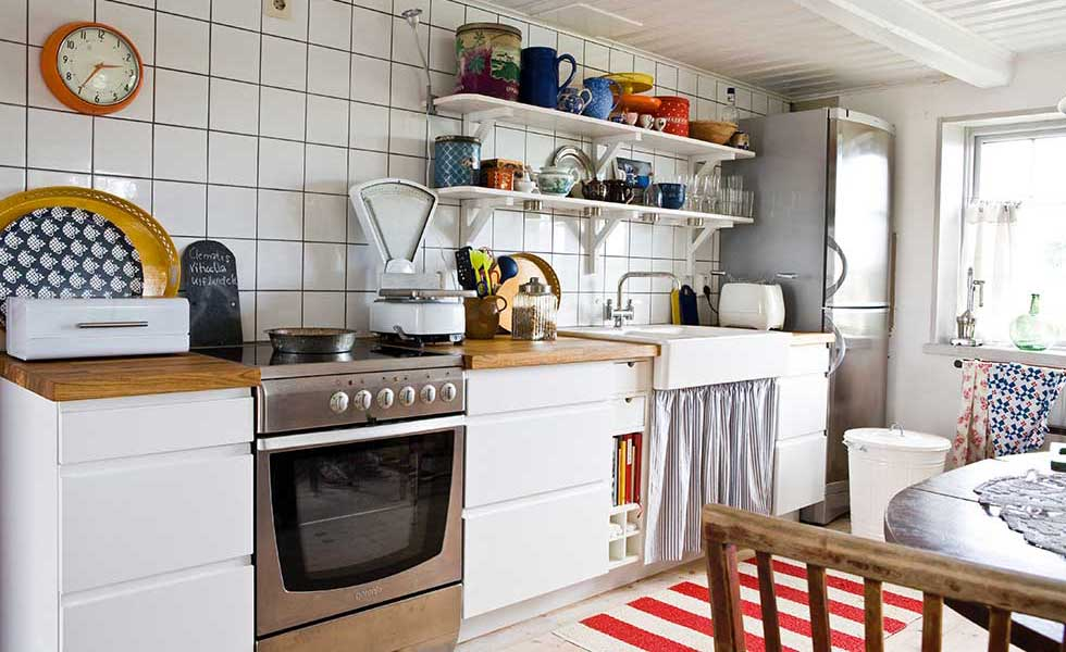 a kitchen diner in a swedish smallholding