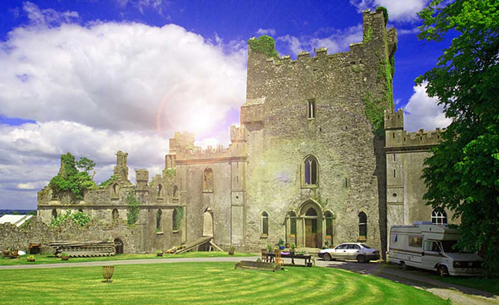 Leap Castle in County Offally is often described as the most haunted castle in the world
