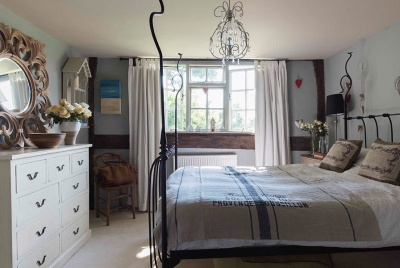 bedroom in a 16th century country home