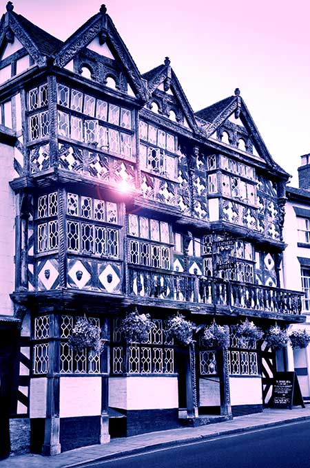 The Feathers Hotel in Ludlow, Shropshire, is haunted by an evil spirit