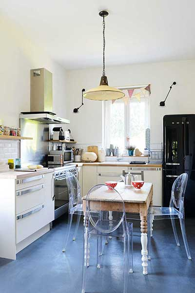 a kitchen diner in a french family home