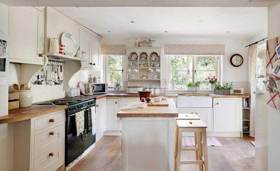 pretty Victorian country kitchen