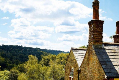 chimney stack with a vew of the country side