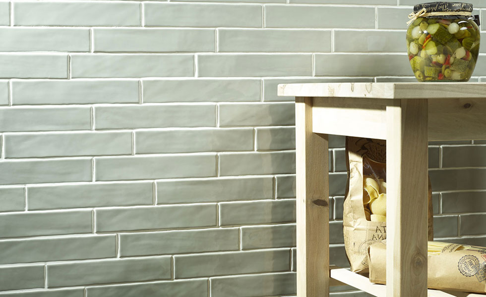 How to get a stylish kitchen on a budget period living for Country style kitchen wall tiles
