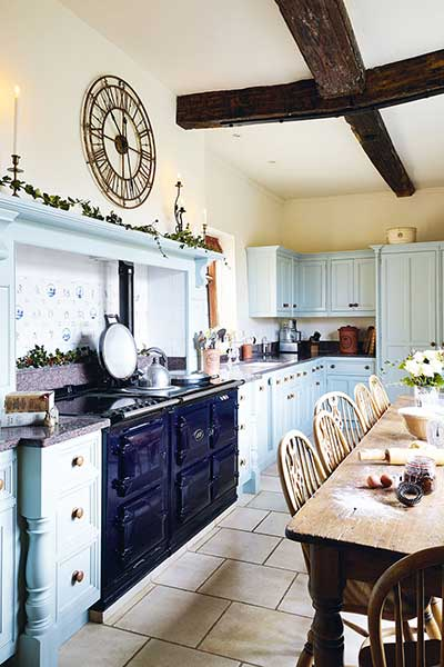 moated manor house country kitchen