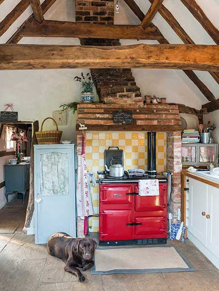 Renovated thatched cottage country kitchen