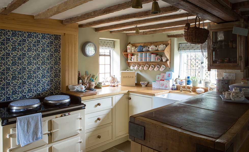 country kitchen in a listed cottage
